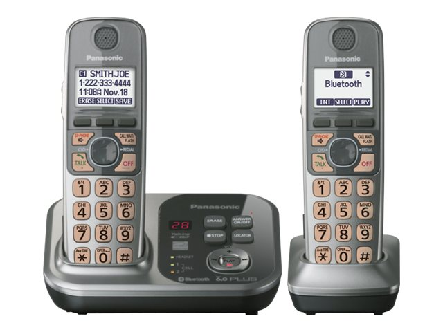 Panasonic 2 Handset Link-to-Cell Bluetooth® Cellular Convergence Solution KX-TG7732S