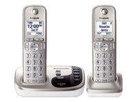 Panasonic Expandable Digital Cordless Answering System w/ 2 Handsets - KX-TGD222N