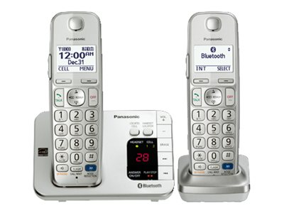 Panasonic Link2Cell Bluetooth® Cellular Convergence Solution w/ 2 Handsets - KX-TGE262S