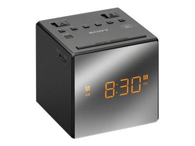 Sony Alarm Clock w/ FM/AM Radio - Black