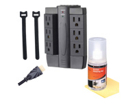 Alphaline™ TV Accessory Kit - HDMI Cables, Surge Protector, Cleaning Kit