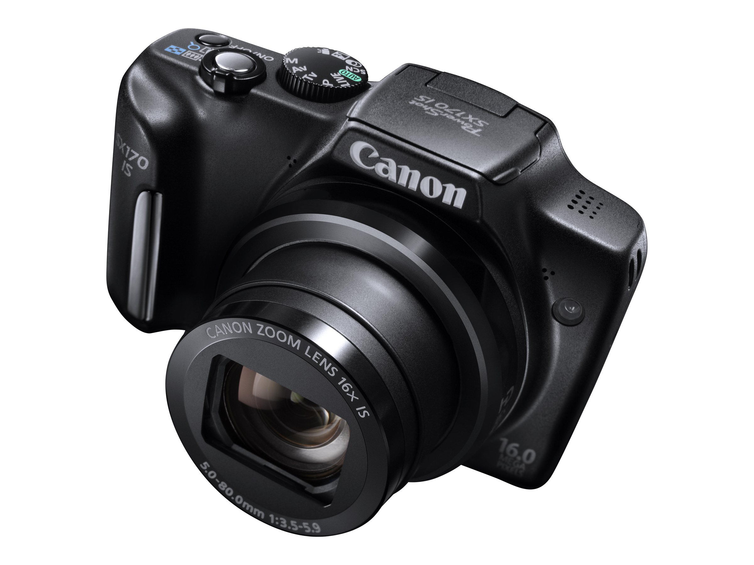 Canon 16.0-Megapixel PowerShot SX170 IS Digital Camera Black