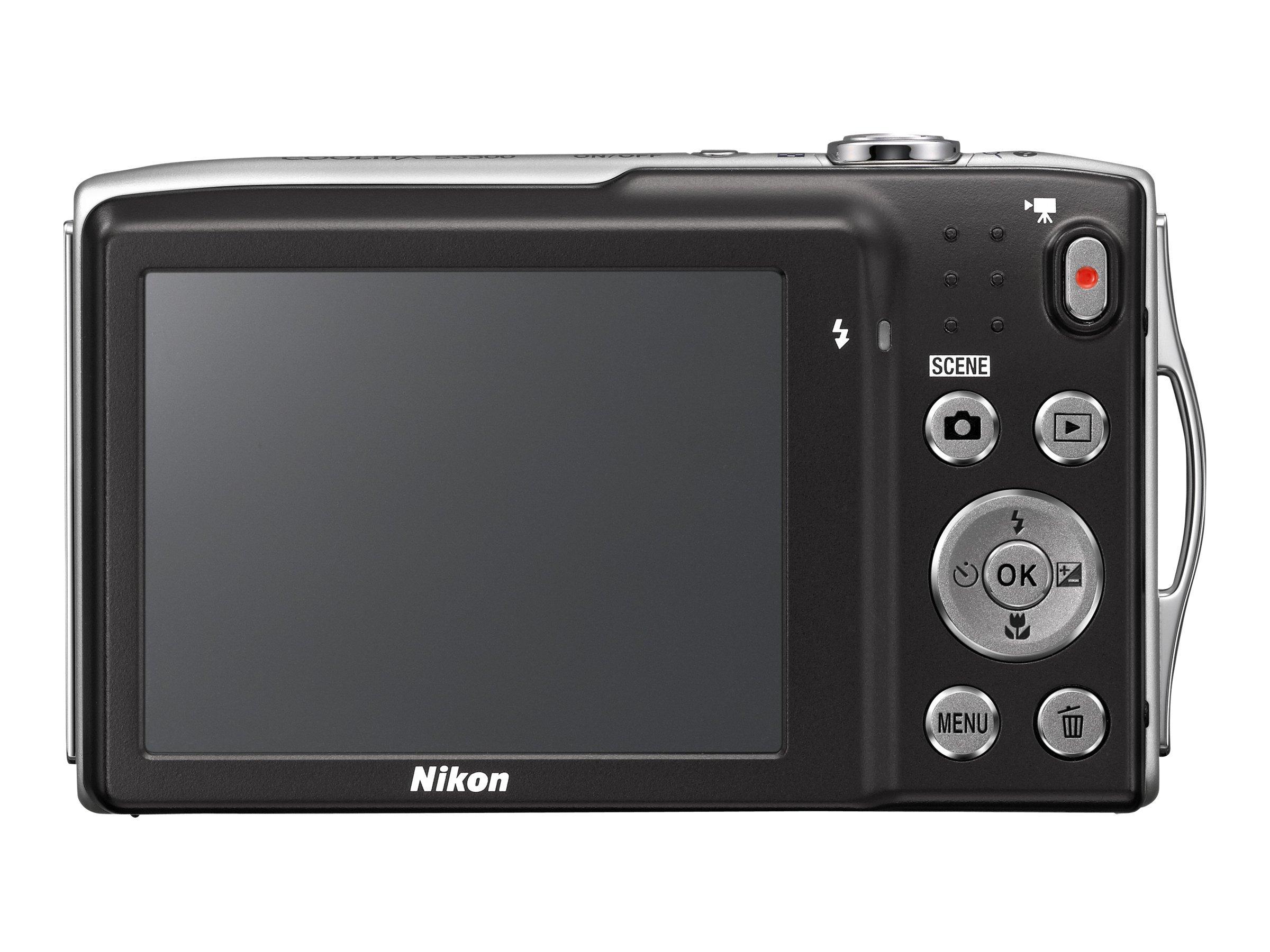 Nikon COOLPIX S3300 Digital Camera 16MP - Silver