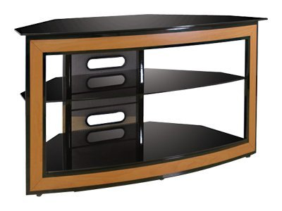 Bell'O Versatile Wood Trim Corner-Fit Audio Video Furniture System