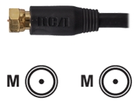 RCA Coaxial RGB Gold Cable, 3 ft.