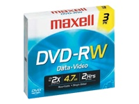 Maxell DVD-RW Blank Media, 3 pk. 4.7GB