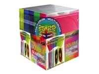 Maxell Jewel Cases, 25 Pk. Slimline Double