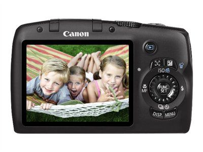 "Canon 3634B001/SX120 PowerShot 10.0 Megapixel Digital Camera 10X Optical Zoom w/ 3"" Screen - Black"