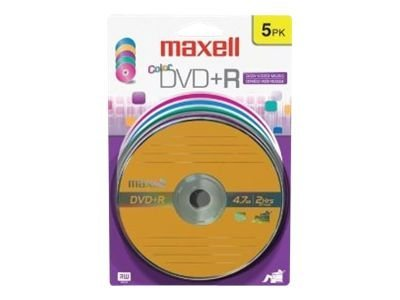Maxell 5 pk. DVD+R Media - Color Pack