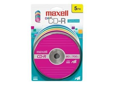 Maxell 5 pk. CD-R Media - Color