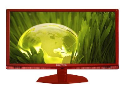 "Sceptre Sceptre E240RC-FHD 24"" Red 1080P LED HDTV 5ms, 2x HDMI, 14,000:1 Dynamic Contrast Ratio, 250cd/m2 Brightness,  USB"