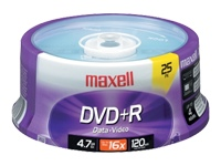 Maxell 25 pk. DVD+R Blank Media