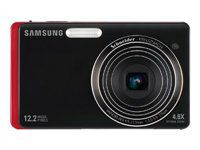 "Samsung EC-TL220ZBPRUS DualView 12.2 Megapixel Digital Camera 4.6X Optical Zoom w/ 3.5"" Dual LCD Screen - Red"