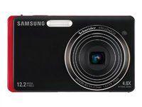 "Samsung EC-TL220ZBPRUS DualView 12.2 Megapixel Digital Camera 4.6X Optical Zoom w/ 3.5"" Dual LCD Screen - Red"