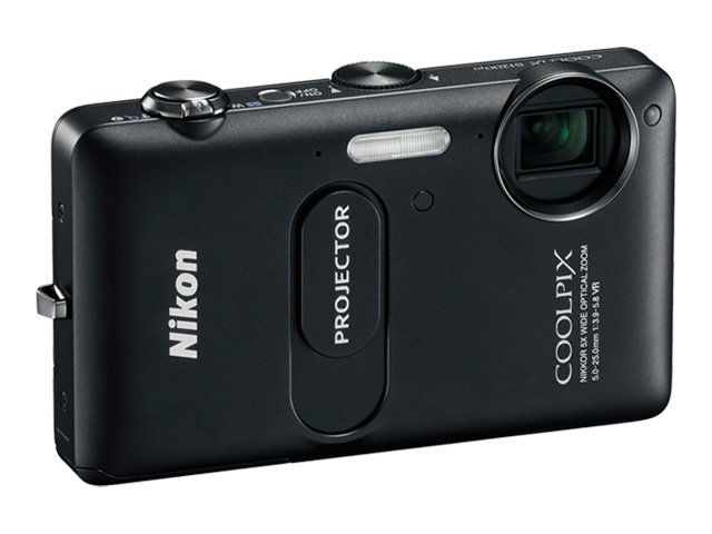 Nikon COOLPIX® S1200pj Digital Camera - Black