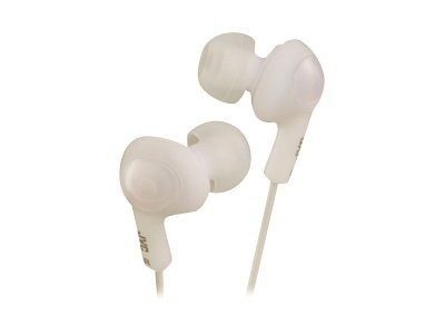 JVC Inner Ear Gumy Plus Headphone - White HAFX5W