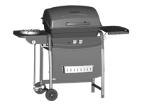 Char-Broil 2-Burner 35,000 BTU Gas Grill 360 with Side Burner and Storage Basket