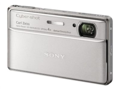 Sony Cyber-shot DSC-TX100V - Digital camera - 3D - compact - 16.2 MP - 4 x optical zoom - silver