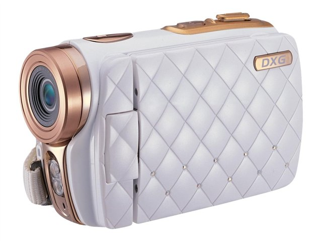 DXG 5.0 MP Compact HD Camcorder w/ 3.0 in. TFT Screen - White