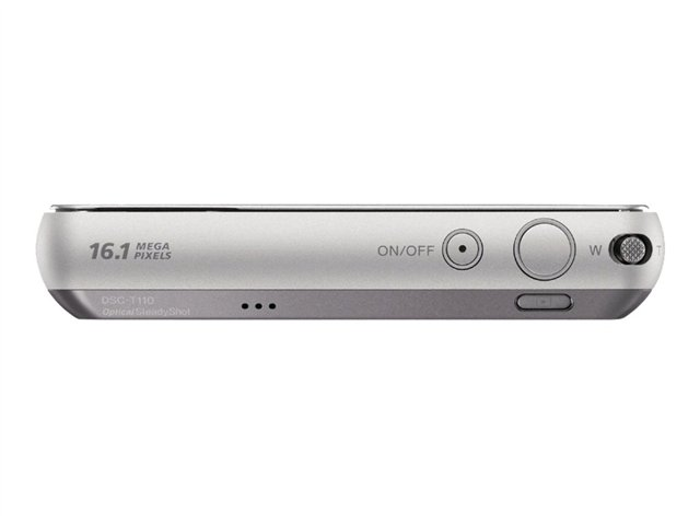 Sony Cyber-shot DSC-T110 - Digital camera - compact - 16.1 MP - 4 x optical zoom - silver