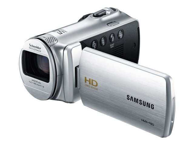 Samsung 720p HD Flash Camcorder HMX-F80 (Silver) - 52x Optical Zoom