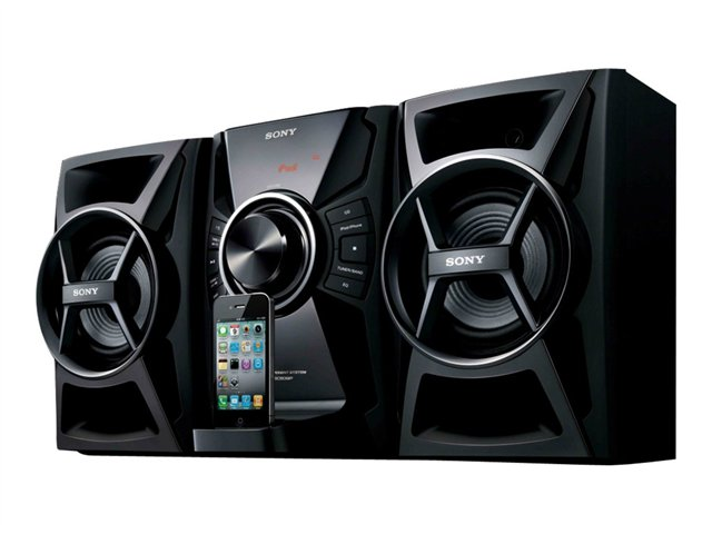 Sony 100W Music System w/ CD Player and iPhone/iPod Dock MHC-EC609iP