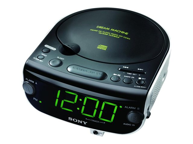 Sony AM/FM Clock Radio with Built-In CD & MP3 Player