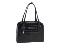 mcklein McKleinUSA OAK GROVE 96635 Black Leather Fly-Through™ Checkpoint-Friendly Ladies' Briefcase